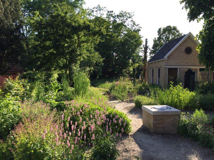 Stinze Stiens, tuin op het erf achter het Dokstershûs.