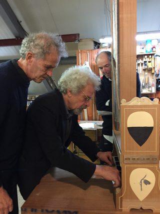 Orgelbouwer Winold van der Putten, model portatief orgel