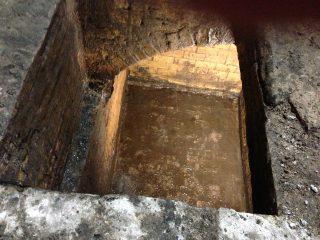 Regenwaterkelder onder voormalige wachtkamer