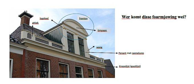 Gerrit van der Meulen, architect: uitleg opbouw en ornamenten 'kajút' Doktershus, Stiens.