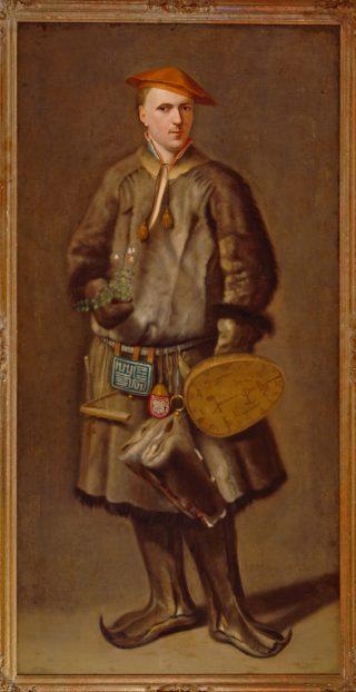 Carl Linnaeus in Laplands kostuum