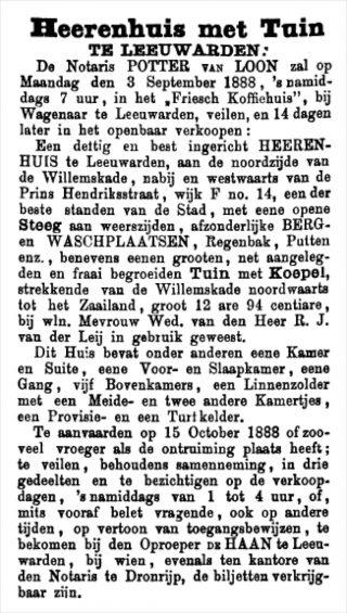 Leeuwarder Courant 10 augustus 1888