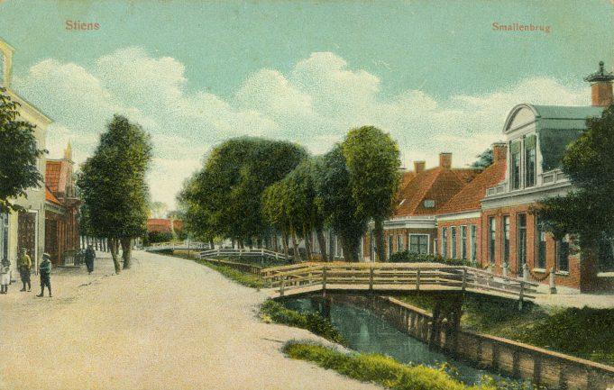 Prentbriefkaart 'Stiens Smallenbrug'